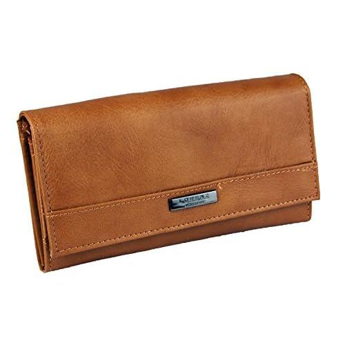 Womens Ladies Cowhide Leather Purse Wallet (Black Brown Cream Plum Red Tan)