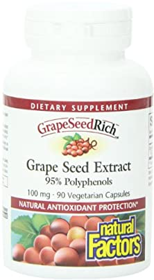buy Natural Factors, Grape Seed Rich, Extract, 100Mg Capsules, 90-Count