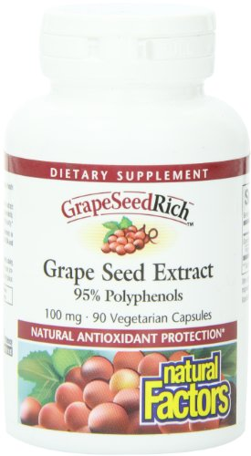 Natural Factors, Grape Seed Rich, Extract, 100Mg Capsules, 90-Count