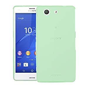 CUBIX® Sony Z3 Compact Case, Hard (Semi Transparent) Super Slim Matte Back Cover For Sony Xperia Z3 Compact (Green)