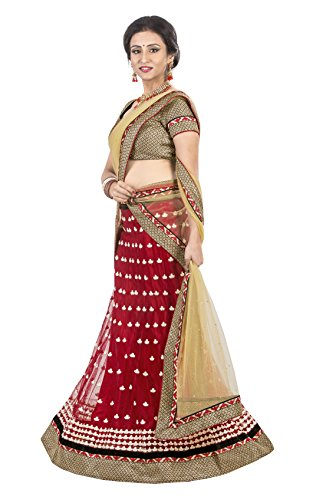 7 Colors Lifestyle Women's Lehenga Choli(AEELH9053SUM1_Red_Free Size)