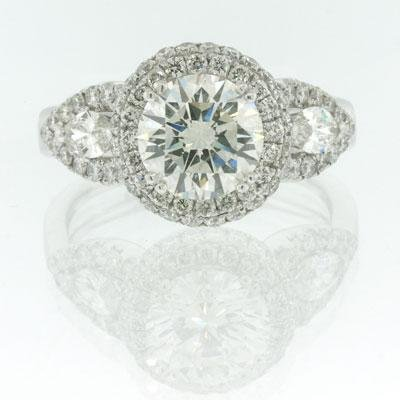 2.86ct Round Brilliant Cut Diamond Engagement