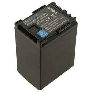Dot.Foto Batterie de qualité pour Canon BP-828 avec Dot.Foto InfoChip - Entièrement 100% compatibles - 7,4v / 2800mAh - garantie de 2 ans [Pour la compatibilité voir la description]