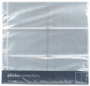 American crafts 12 x 12 inch 6 x 4 inch pocket page for American crafts page protectors 8x8