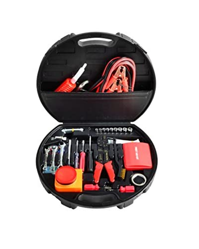 Picnic at Ascot 125-Piece Auto Roadside Emergency Tool Kit, Black