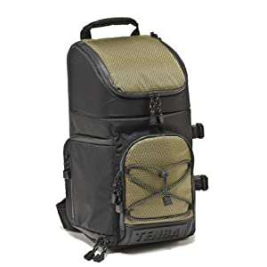 Tenba 632-631 Shootout Convertible Medium Photo Sling Bag (Black/Olive)
