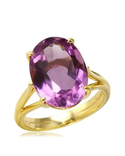 Fashion Strada 14K Gold Oval-Cut Amethyst Ring