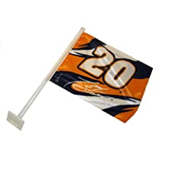 NASCAR Tony Stewart #20 Car Flag with Window Mounting Bracket by Nascar
