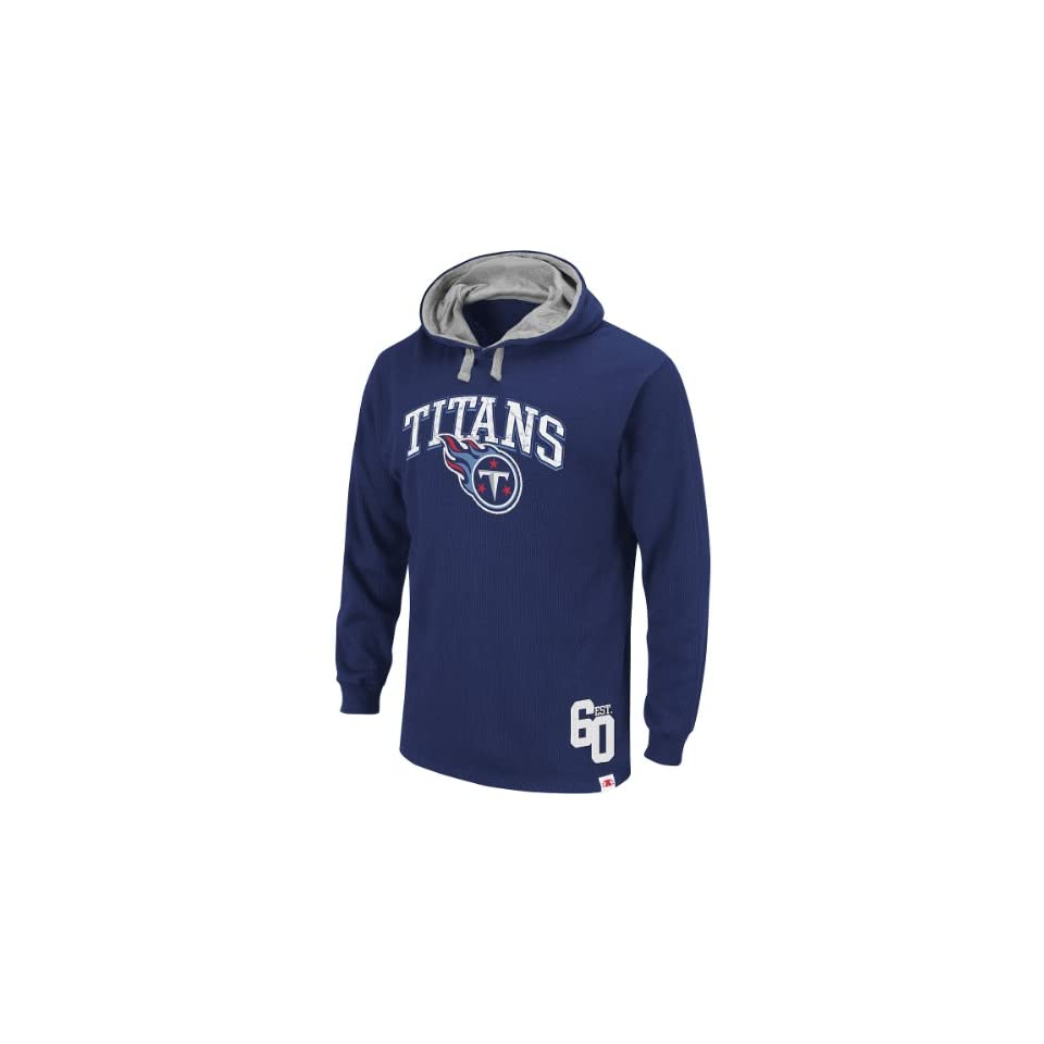 Nfl Tennessee Titans Mens Go Long Thermal Hooded Sweatshirt
