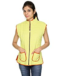 Rajrang Womens Cotton Orange & Yellow Small Jacket