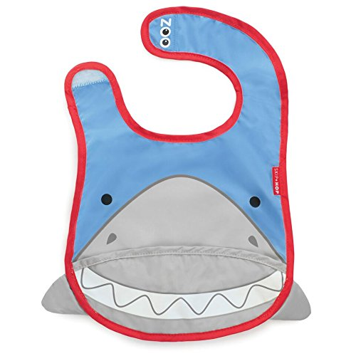 Skip Hop Zoo Tuck Away Bib, Shark - 1