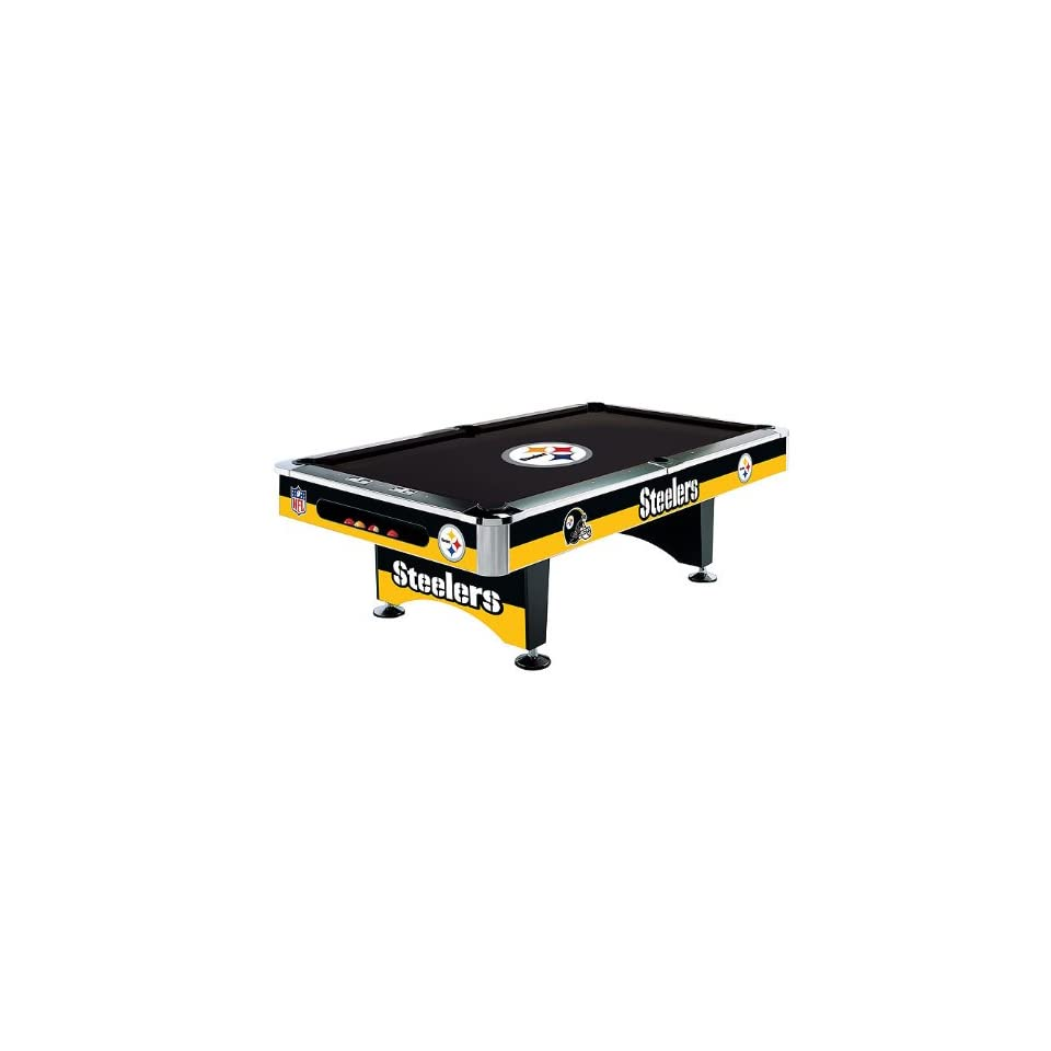 Pittsburgh Steelers Team Logo 8 Foot Pool Table WITH Logo Felt