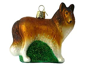 Old World Christmas Collie Dog Glass Ornament Assorted item - 1 piece #12204