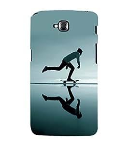 printtech Skateboard Man Mirror Back Case Cover for LG GPro Lite / LG G Pro Lite Dual D686