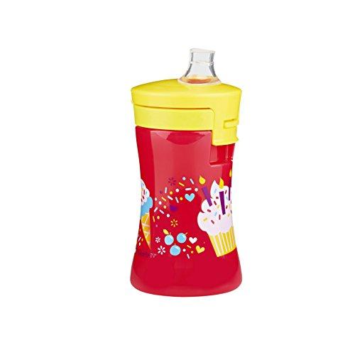 Gerber Graduates Advance Developmental 1-Piece Sippy Cup in Girl Designs, 10-Ounce - 1