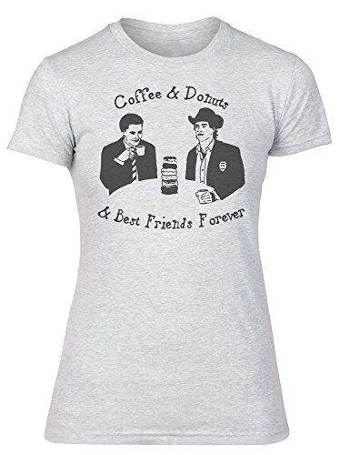 Twin Peaks Coffee And Donuts And Best Friends Forever Design Women's T-Shirt Large