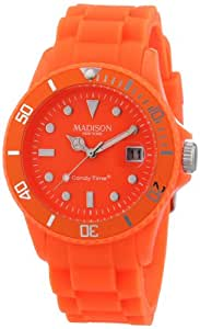 MADISON NEW YORK Unisex-Armbanduhr Candy Time Neon Analog Quarz Silikon U4503-51/1