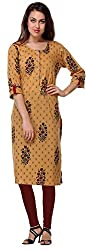 Vastra Vinod Women's Cotton Kurta (6902, Beige, XXXXX-Large)