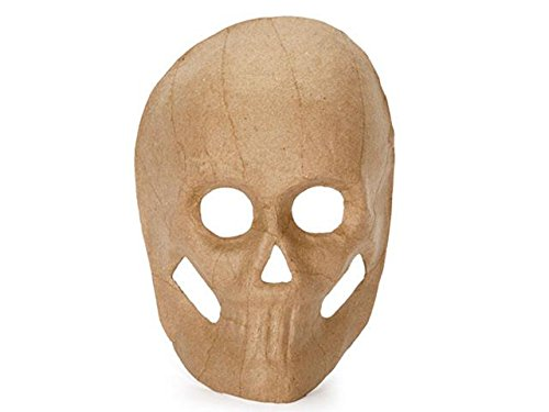 Paper Mache Skull Mask - 8.5 inches (Paper Skull Mask compare prices)