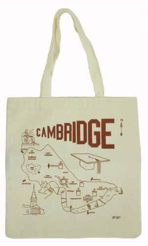 Cambridge Massachusetts City Map Bag