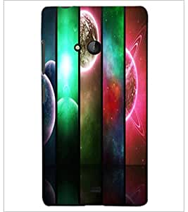PrintDhaba Pattern D-2691 Back Case Cover for MICROSOFT LUMIA 540 (Multi-Coloured)