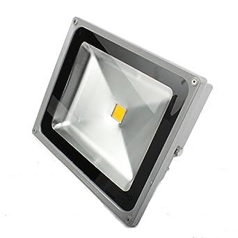 4X 50W LED Fluter Außenstrahler Scheinwerfer Gartenstrahler Flutlicht Warmweiß