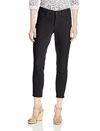 NYDJ Women's Petite Clarissa Ankle Jeans In Colored Bull Denim, Black, 14 Petite