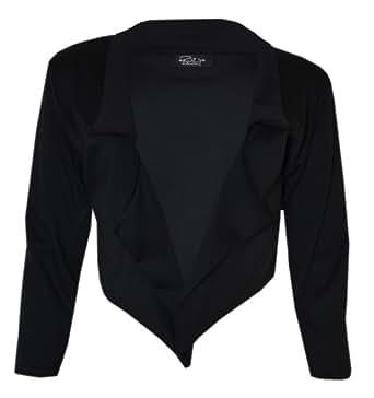 Inf Womens Ladies Waterfall Blazer (M/L (10-12), BLACK)