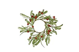 Fantastic Craft Holly Berry Candle Ring, Pack of 6, 3.5\