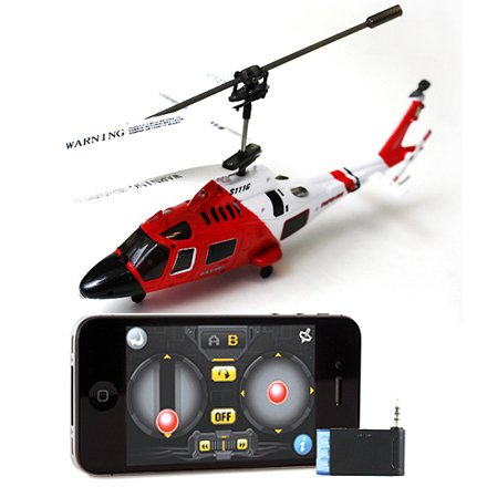 Deals iPhone iPad Controlled Syma S111 -3 Channel RC Helicopter iCopter Mini Palm Size US Coast Guard