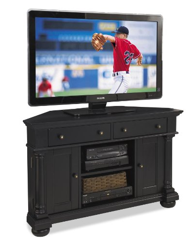 Cheap Home Styles St Croix Corner TV Stand, Black (5901-07)