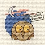Mouseloft Mini Cross Stitch Kit Owl Friendly Planet Collection