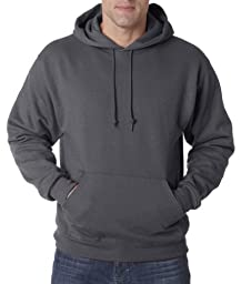 Jerzees Men\'s NuBlend Hooded Pullover Sweatshirt, Charcoal Grey, Large