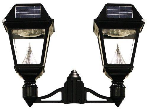 """Imperial Ii Solar Lantern, 3"""" Fitter, Double Head, Black"""