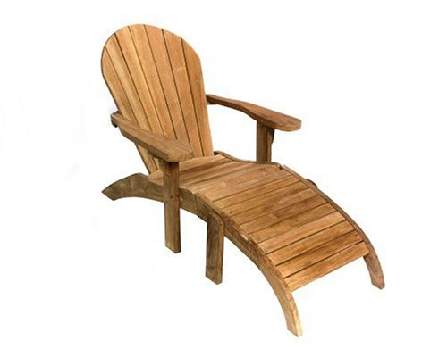 Teak Furniture Gallery TGL100 Adirondack Chair with Footstool