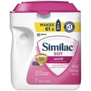 Baby / Child Similac Soy Isomil Baby Iron Powder Formula Milk Free For Fussiness And Gas 34 Oz. (50825) Infant front-22402