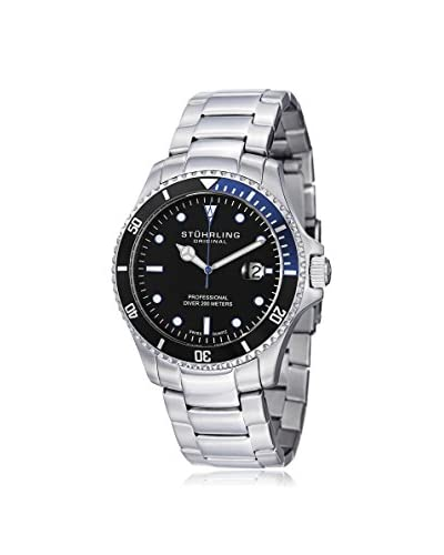 Stuhrling Original Men's 326B.331151 Regatta Elite Aquadiver Silver/Black Stainless Steel Watch