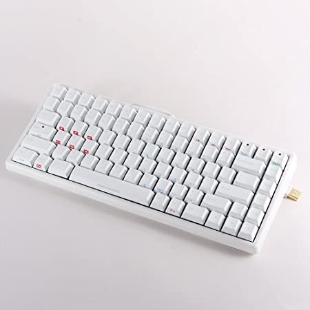 Noppoo Choc Mini 84 USB NKRO Mechanical Gaming Keyboard Cherry MX Switches (BROWN switches + White body + PBT key cap)