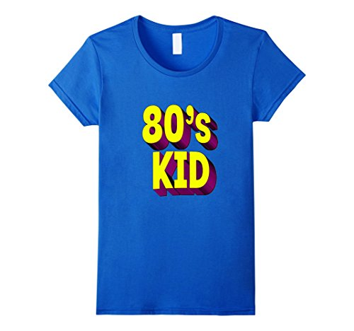 [Women's 80's Kid Shirt - Born in the 80s, 1980s for Mens Womens Large Royal Blue] (Female Pop Culture Costumes)