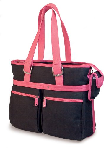 Mobile Edge Komen Eco-Friendly Tote, Black with Pink Trim (Fits 16-Inch PC/17-Inch Mac)