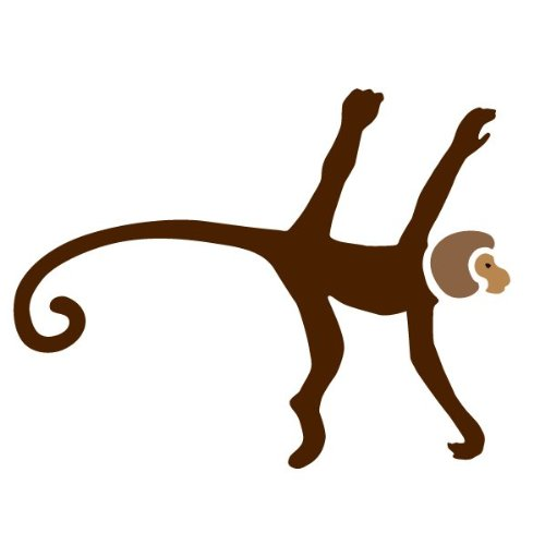 Monkey Stencil For Painting Monkeys On The Walls Of A Classroom front-1062599