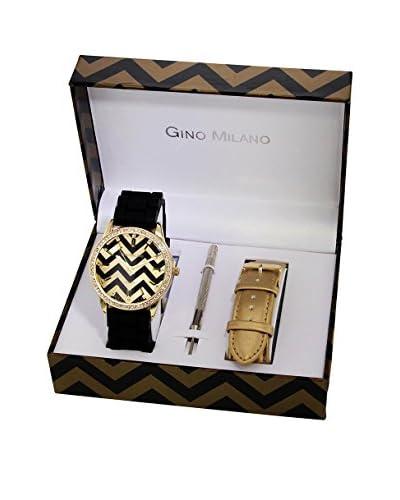 GINO MILANO Reloj de cuarzo + Set x 1 Correas intercambiables MWF14-036C 42 mm