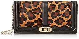 Rebecca Minkoff Love Clutch, Leopard, One Size