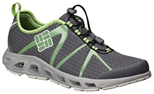 Columbia Men's Powerdrain II Water Shoe,Charcoal/Fluoro Green,7 M US