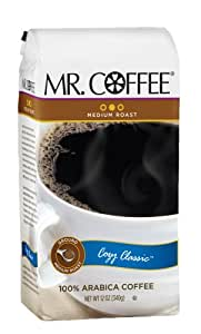 Mr. Coffee Cozy Classic Medium Roast Ground Coffee, 12-Ounce Bags (Pack of 6)