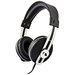 Nakamichi Over the Ear Headphones - Retail Packaging - Black with Red Thread