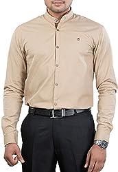 Unkonventional Men's Casual Shirt (unkoribeizzl_Beige_40)