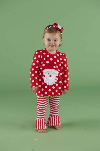 Mud Pie Baby-Girls Infant Santa Tunic And Leggings Set, Multi Colored, 2T-3T front-585984