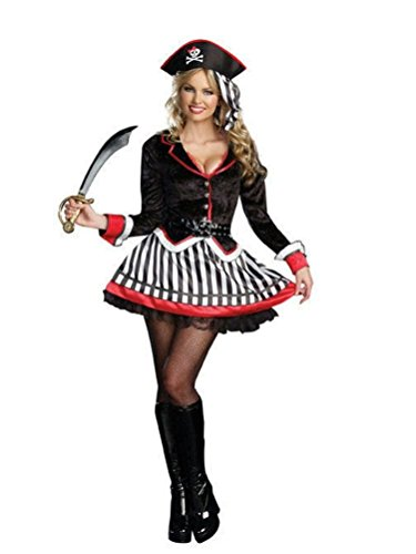 Coslove Dreamgirl Women's Treasure Me Sexy Pirate Adult Costume Size Small 2-6