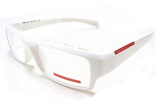 Prada White Frame Glasses : PRADA VPS 05A Eyeglasses VPS05A White 4AO-1O1 Optical Frames